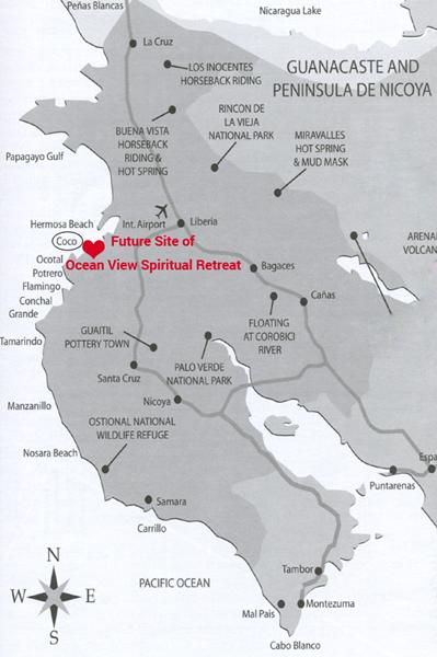 Map Costa Rica Guanacaste Beaches